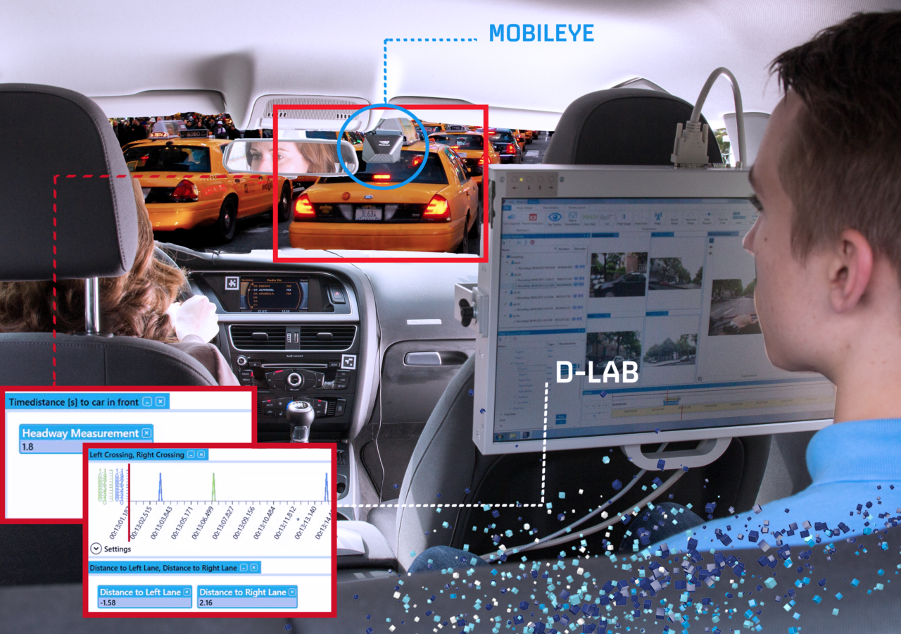 D-Lab & Mobileye Lane Tracking | Distance to car in front